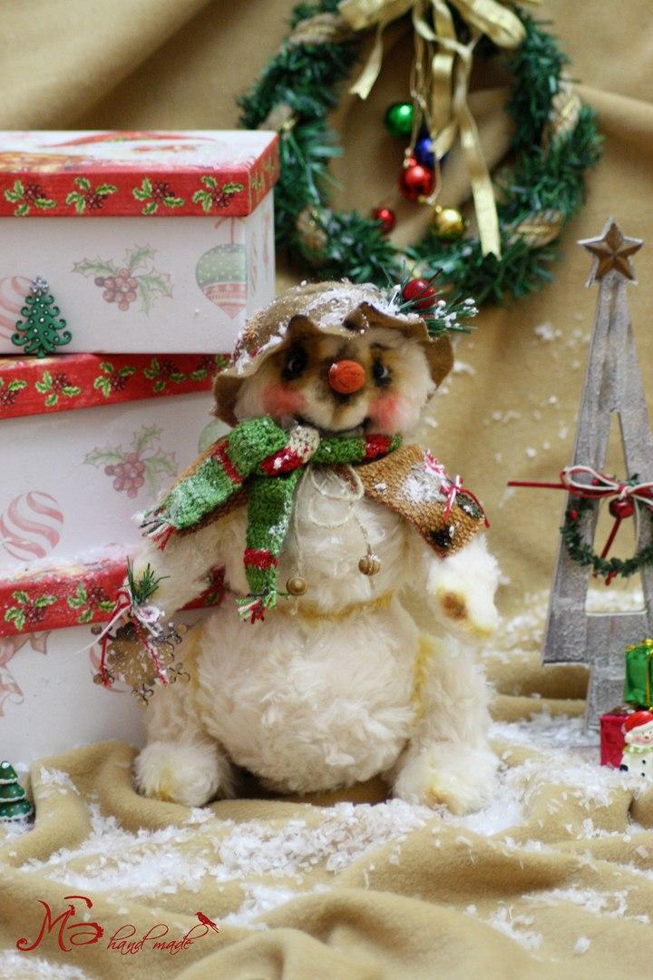 снеговик из меха