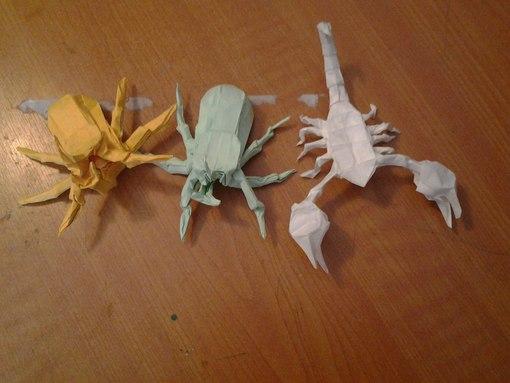 Оригами скорпион 234 шага