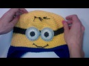 Шапка крючком для мальчика Миньон Crochet Minion Hat