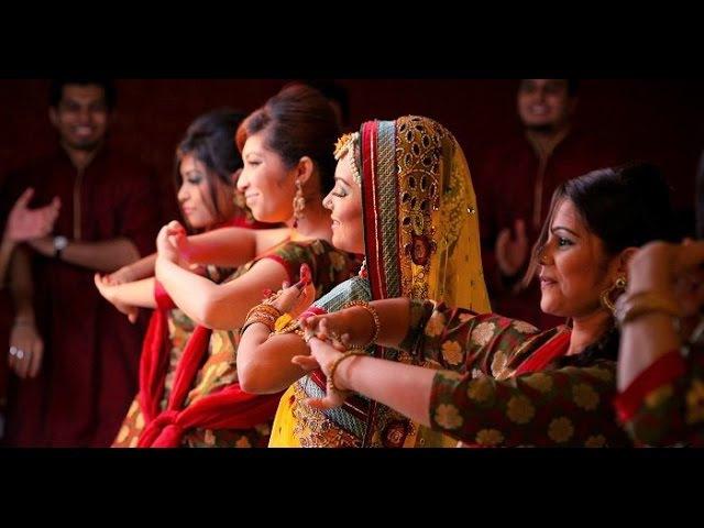 Свадьба Бангладеш Holud Dance Performance
