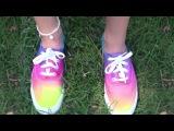 Стильная красочная обувь своими руками   Кеды   Кроссовки   Модная жизнь