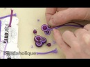 How to do Soutache Bead Embroidery Part 3 How to Add a Side Bead and to End a Stack