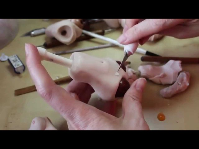 Sculpting a Ball-Jointed Doll Torso (BJD) from Polymer Clay - www.MakingFairies.com