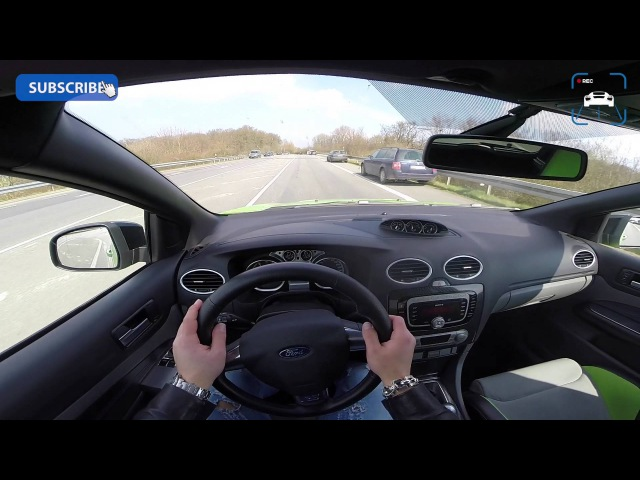 POV 426 HP Ford Focus RS MK2 2.5T 270 km/h AUTOBAHN Acceleration Sound
