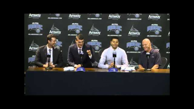 Orlando Magic Rookies Introductory Press Conference Mario Hezonja and Tyler Harvey