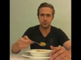 Ryan Gosling eat his cereal
