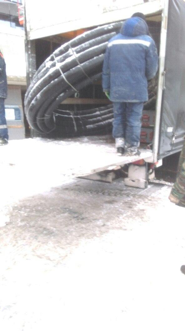 Разгрущка ГПИ трубы на объекте в Минске