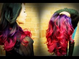 Best OMBRE Tutorial on Youtube!!! && Purple to Pink Ombre!! *Done on Black hair*