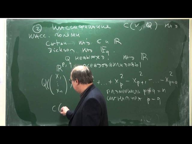 Лекция 1 | Алгебры Клиффорда и спинорные группы | Николай Вавилов | Лекториум