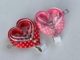 HOW TO Make a Layered Valentine's Day Heart Clip Tutorial by Just Add A Bow
