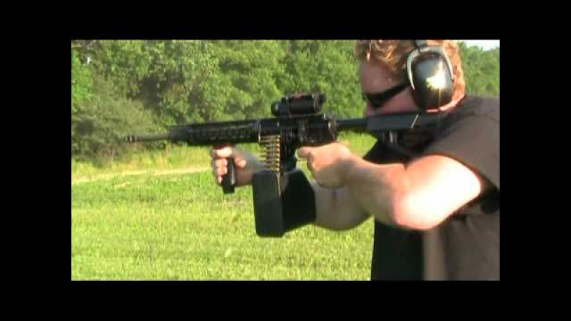 Belt fed ar15 m16 machine gun bumpfire m4 full auto conversion