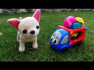 Умная собачка Чичи. Машинки Автовоз и Лютик играют в сыщиков с Чичи