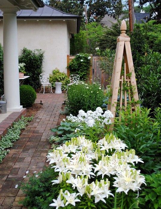 Фото ландшафтный дизайн белый сад