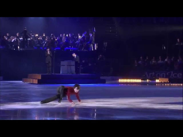 Art on Ice 2014 - Stéphane Lambiel with Hurts (The Water)