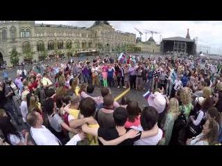 Флешмоб на Красной площади Гимн России