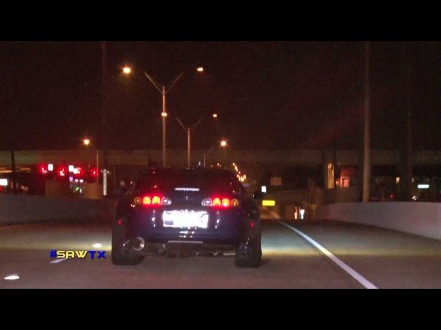 Worlds Fastest Supra's Street Racing At TX2K13 SAWTX RAW FOOTAGE