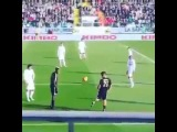 There was a break in play during Juventus's 3-2 win at Carpi
