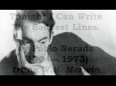 Tonight I Can Write The Saddest Lines by Pablo Neruda read by Tom O'Bedlam