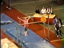 Paul Hunt as the female gymnast