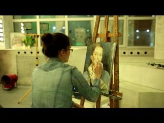 С МК по рисованию маслянными красками. Школа рисования ПИКЧА.