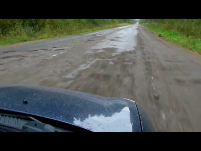 Дорога на Рыбреку из Шелтозеро (Р-19, Карелия)