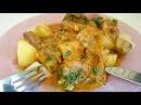 Гуляш из свинины Рецепт Секрета горячего второго блюда из мяса с гарниром из картофеля приготовить