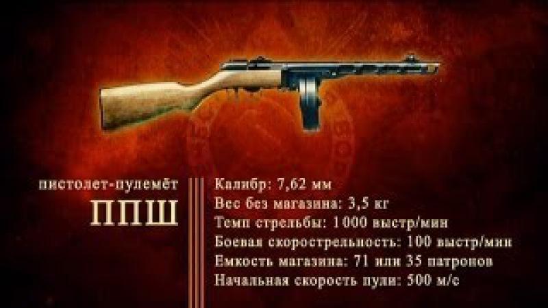 Д ф Оружие Победы Пистолет пулемет Шпагина ППШ