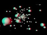 Летающие шары. Анаглифная зарядка для глаз.
