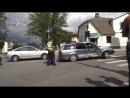 Wolksvagen & Opel в Резекне не поделили перекрёсток