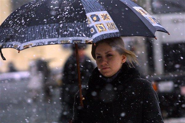 Сегодня в большинстве районов Ростовской области ожидается снег и дождь