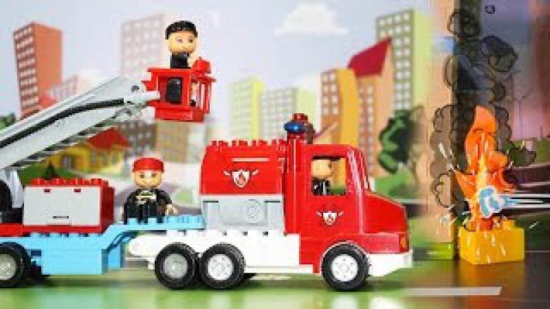 Мультфильм. Пожарные машины тушат пожар. Развивающие мультики для детей.
