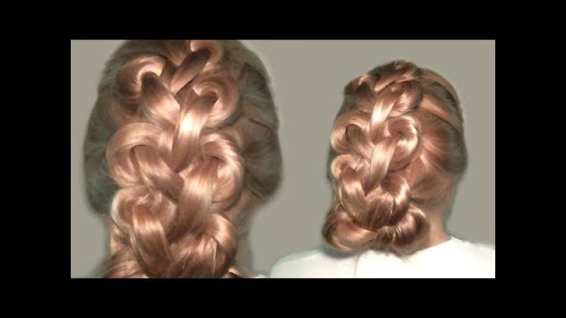 Плетение Длинных Волос Узлами. Узлы Лино Руссо. Прически Самой Себе видео