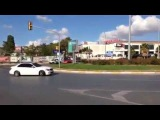 DKL   Mercedes Benz C63 AMG drifting on the street
