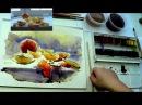 Солнечные дольки Акварель watercolour Acuarela Aquarell