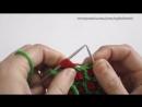 Вязание спицами. Вяжем узор Цветные звездочки или Цветные астры. Knit color Aster Flowers