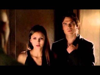 The Vampire Diaries 4x02 Damon helps Elena after she vomits up blood.