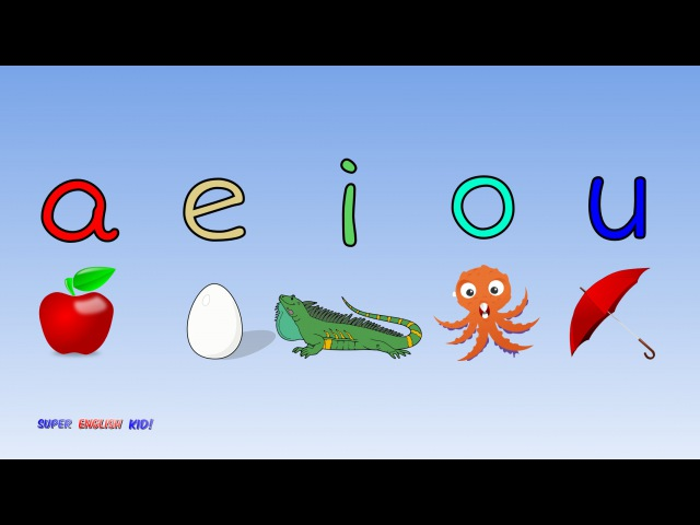 ♫ Fun and Fast Short Vowel Phonics Song aeiou with actions. (Grade 1)♫