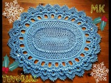 Овальный ковер крючком из шнура 24 ряд Crochet Oval Rug row 24
