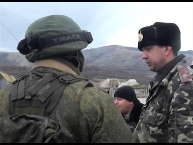 Вооруженные люди без опознавательных знаков блокировали бригаду береговой охраны в Крыму