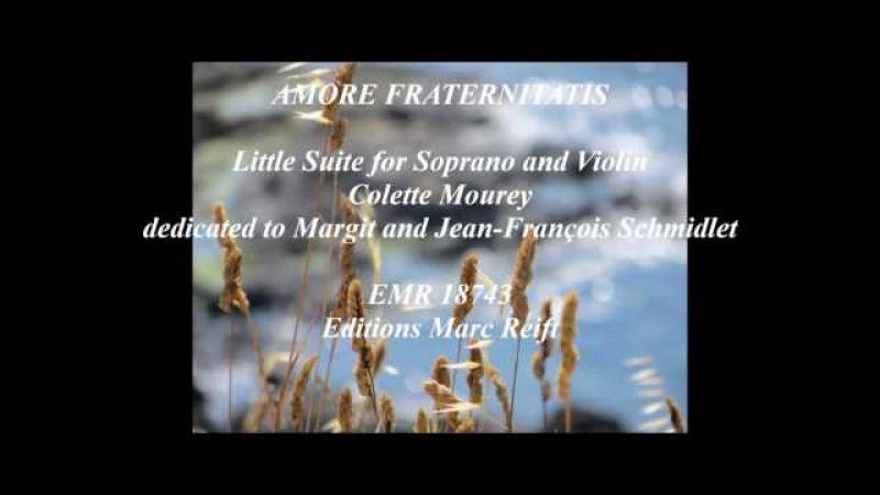 Amore Fraternitatis Colette Mourey EMR 18743 Editions Marc Reift