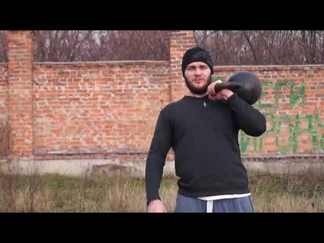 Жонглирование гирями Обучалка на толчок гирями Гиревой спорт упражнения с гирей