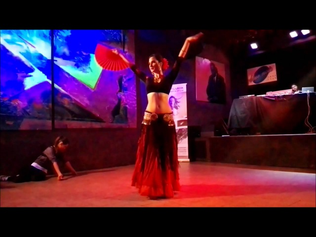 Katarzyna Lidia solo ATS® Tribal flamenco fan