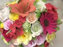 Ищете оригинальный подарок на День Рождения свекрови Цветы хризантемы в букете «Огненные лилии»