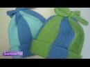 Детская ШАПОЧКА для новорожденных от 0 до 3 месяцев Вязание спицами 309