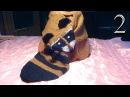 Детский шарф Енот вязание спицами для детей, подарок своими руками часть 2