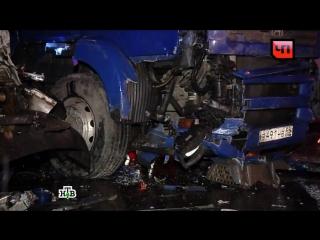 На МКАД автовоз врезался в три машины ДПС и скорую помощь