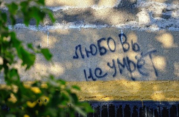 надписи, город, любовь не умрет