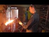 Замена трубы на стальной классической узловой раме.