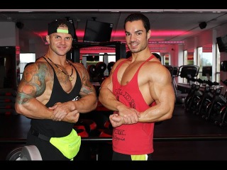 Сергей Палкин и Julien Quaglierini. Тренировка мышц рук