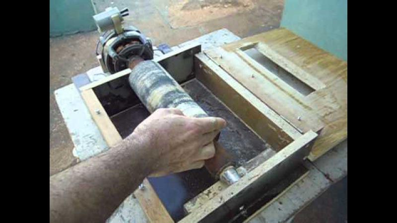Lixadeira de rolo caseira com motor de tanquinho / SANDER